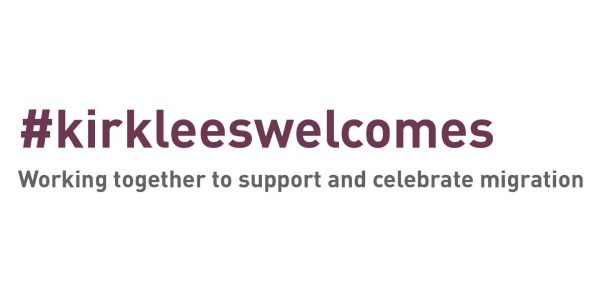 Logo for #KirkleesWelcome, English Language course provider