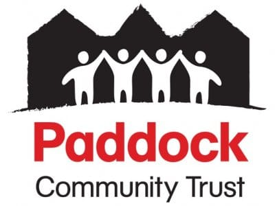 Logo for Paddock Community Trust, English Language course provider